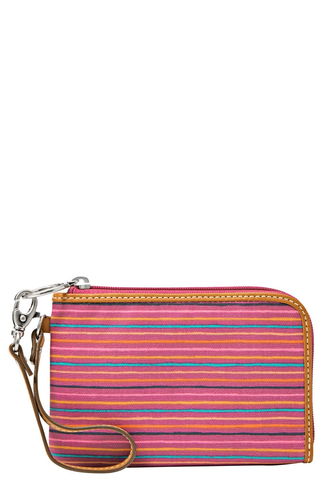 Alternate Image 1 Selected - Fossil 'Key-Per' Coated Canvas Wristlet