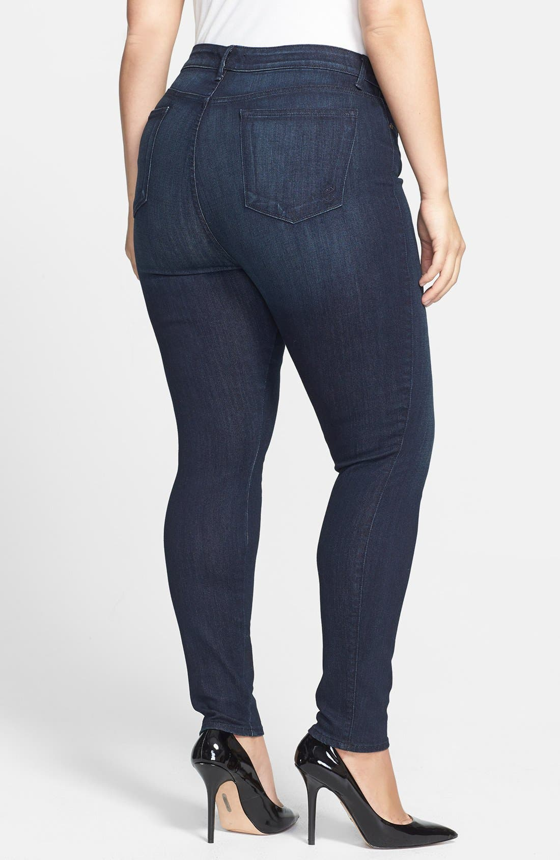 Alternate Image 2  - CJ by Cookie Johnson 'Joy' Legging Style Stretch Jeans (Kahana) (Plus Size)