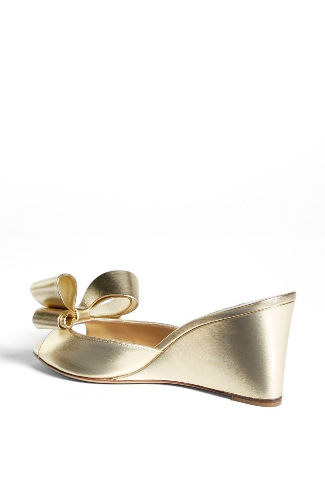 Alternate Image 2  - Valentino Bow Wedge Sandal