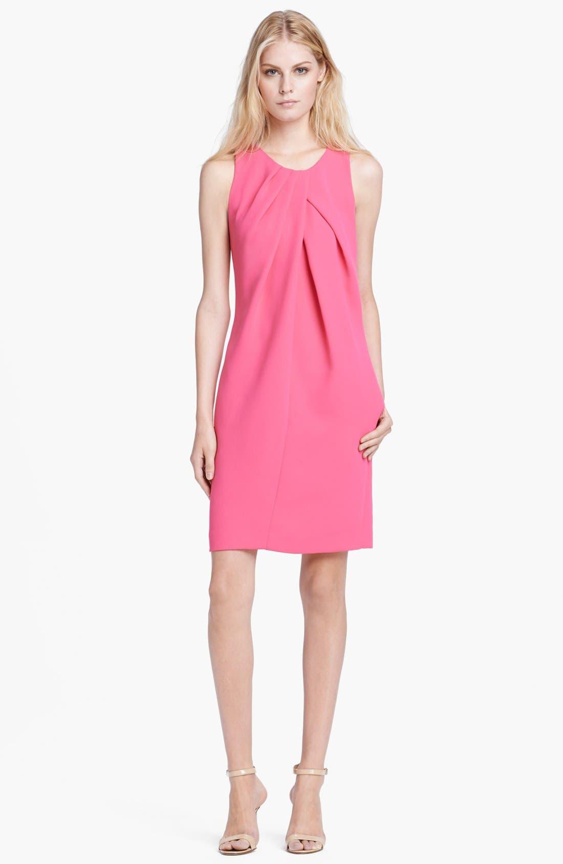 Main Image - L'AGENCE Sleeveless Drape Front Dress