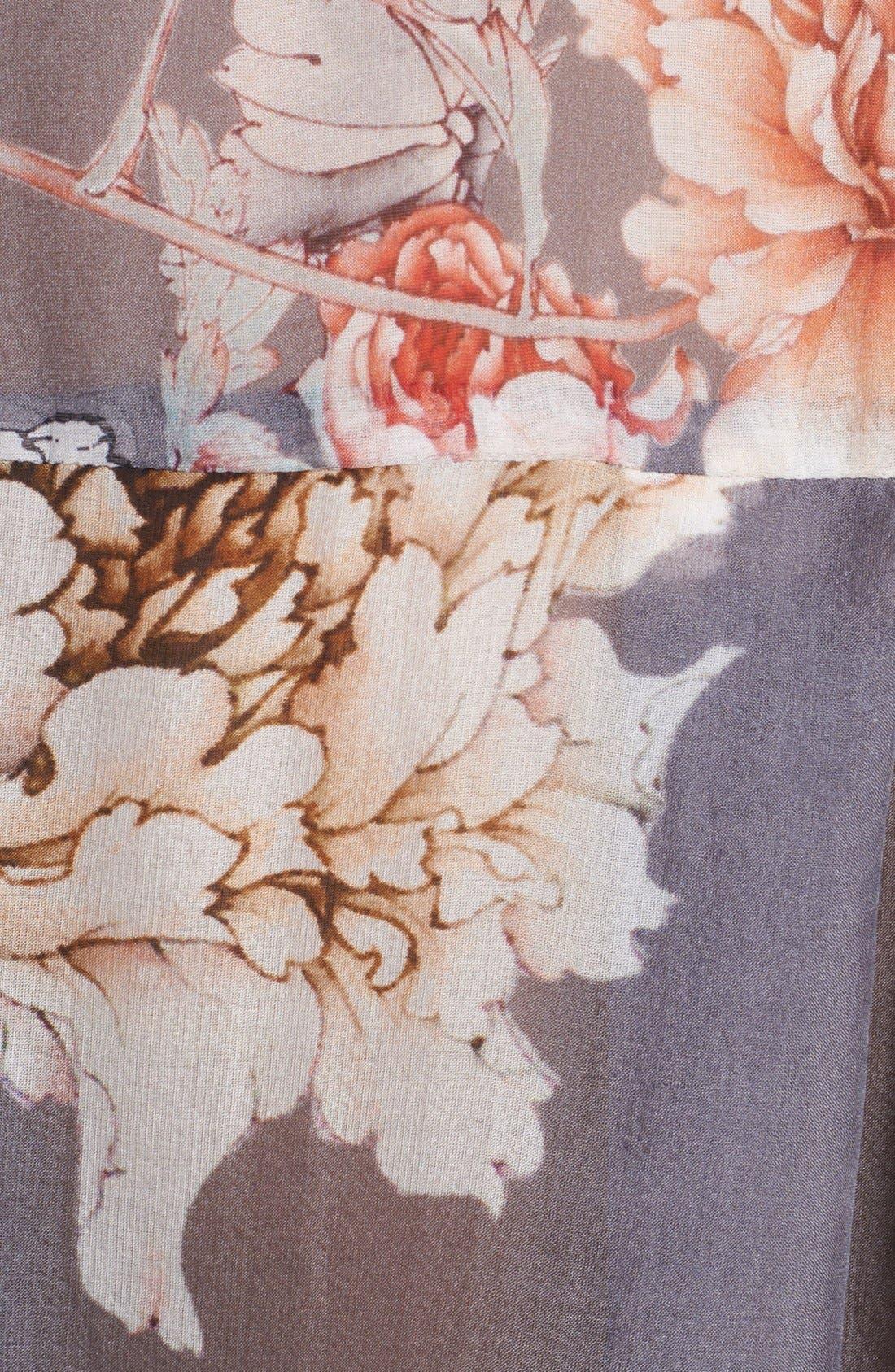 Alternate Image 5  - L'AGENCE Floral Print Silk Blouse