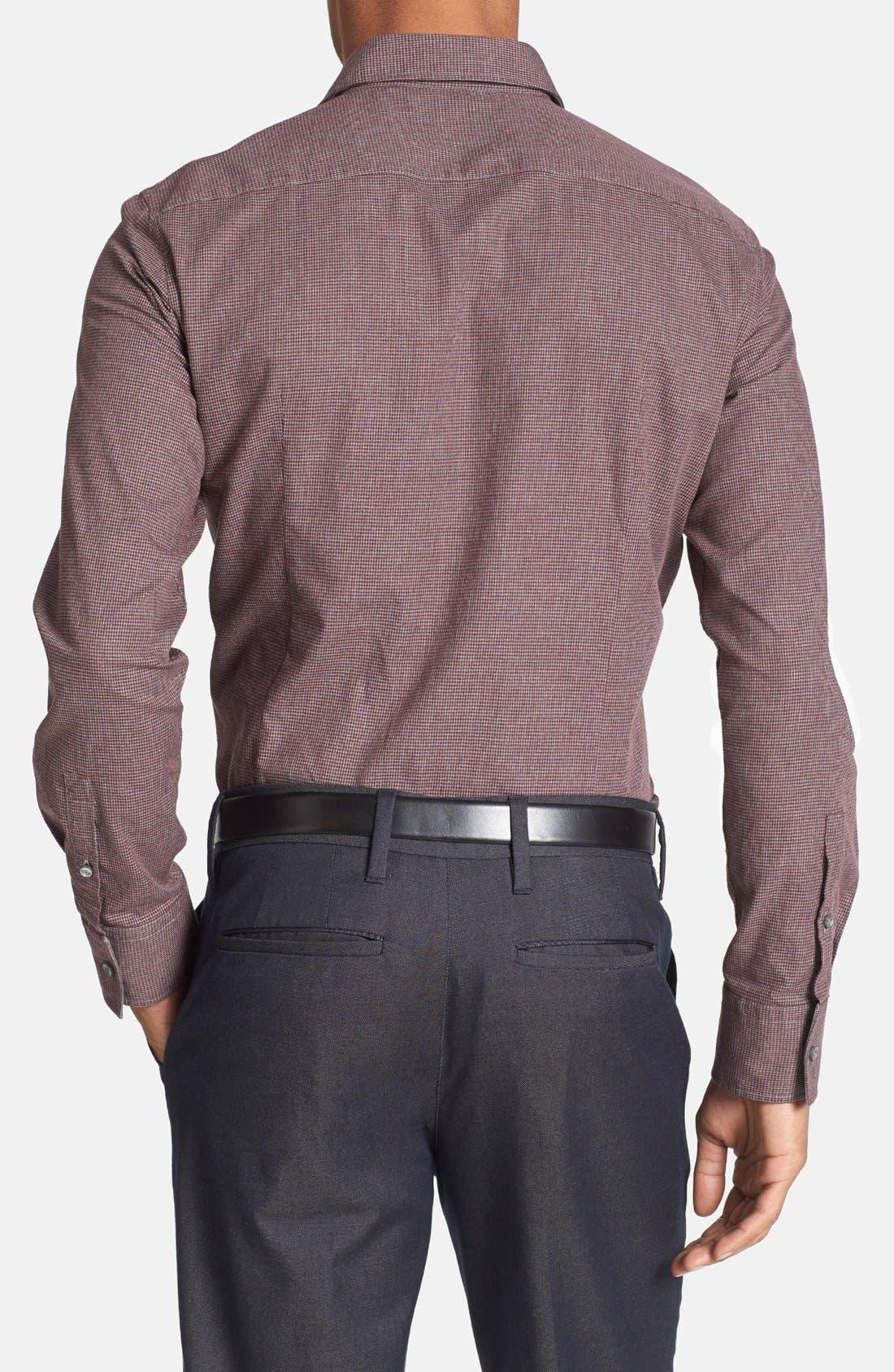 Alternate Image 2  - BOSS HUGO BOSS 'Ronny' Mélange Houndstooth Sport Shirt