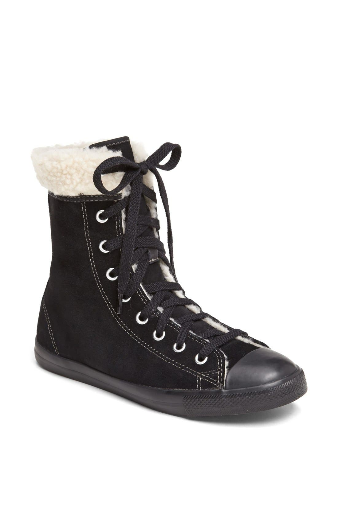 Main Image - Converse Chuck Taylor® All Star®' Dainty' Suede High Top Sneaker (Women)