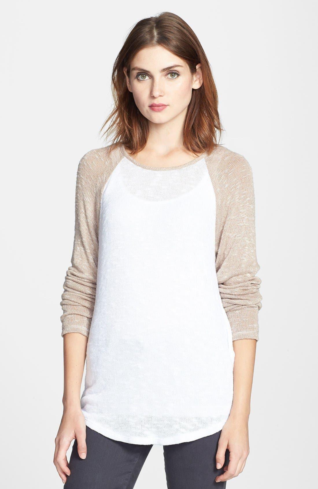 Alternate Image 1 Selected - C & C California Raglan Sleeve Sweater