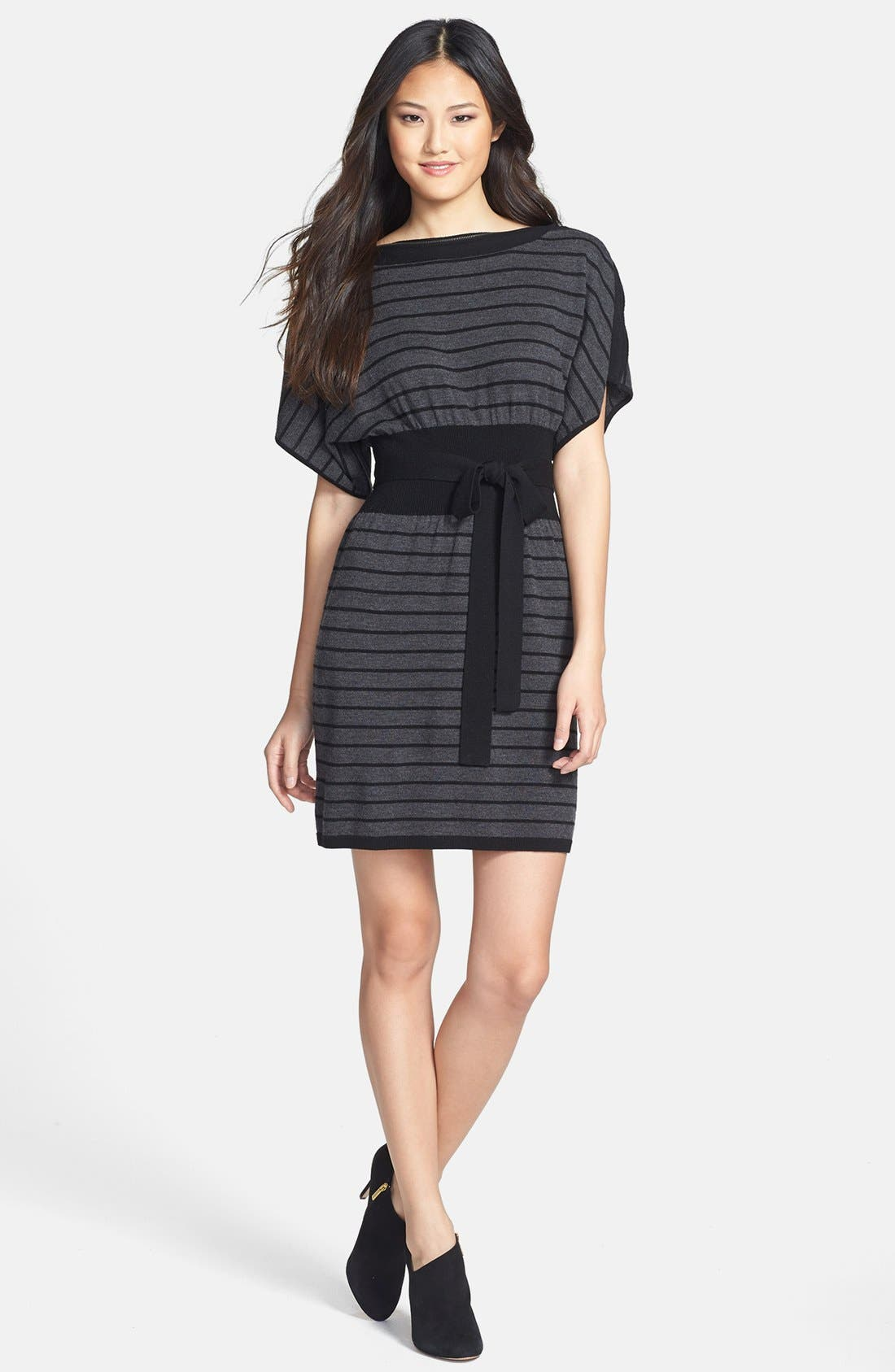 Main Image - Laundry by Shelli Segal Stripe Wool Sweater Dress (Petite)