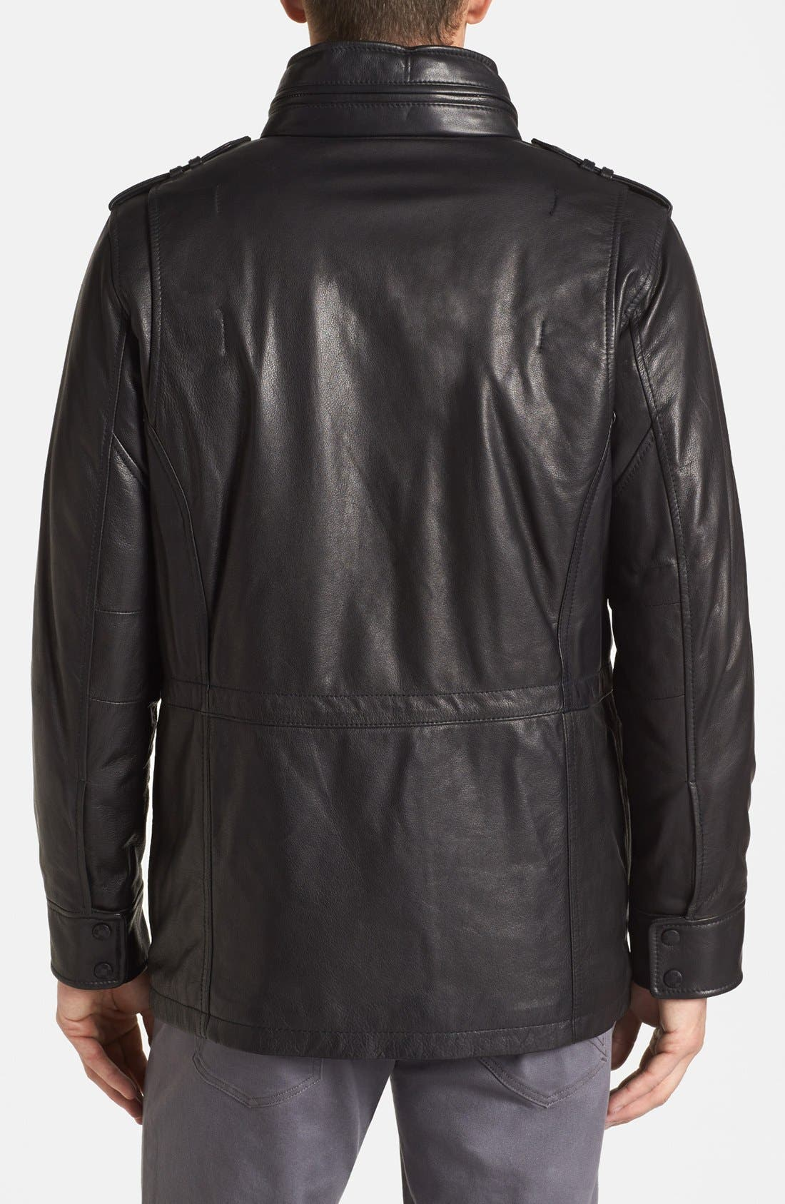 Alternate Image 2  - Vince Camuto Leather Field Jacket