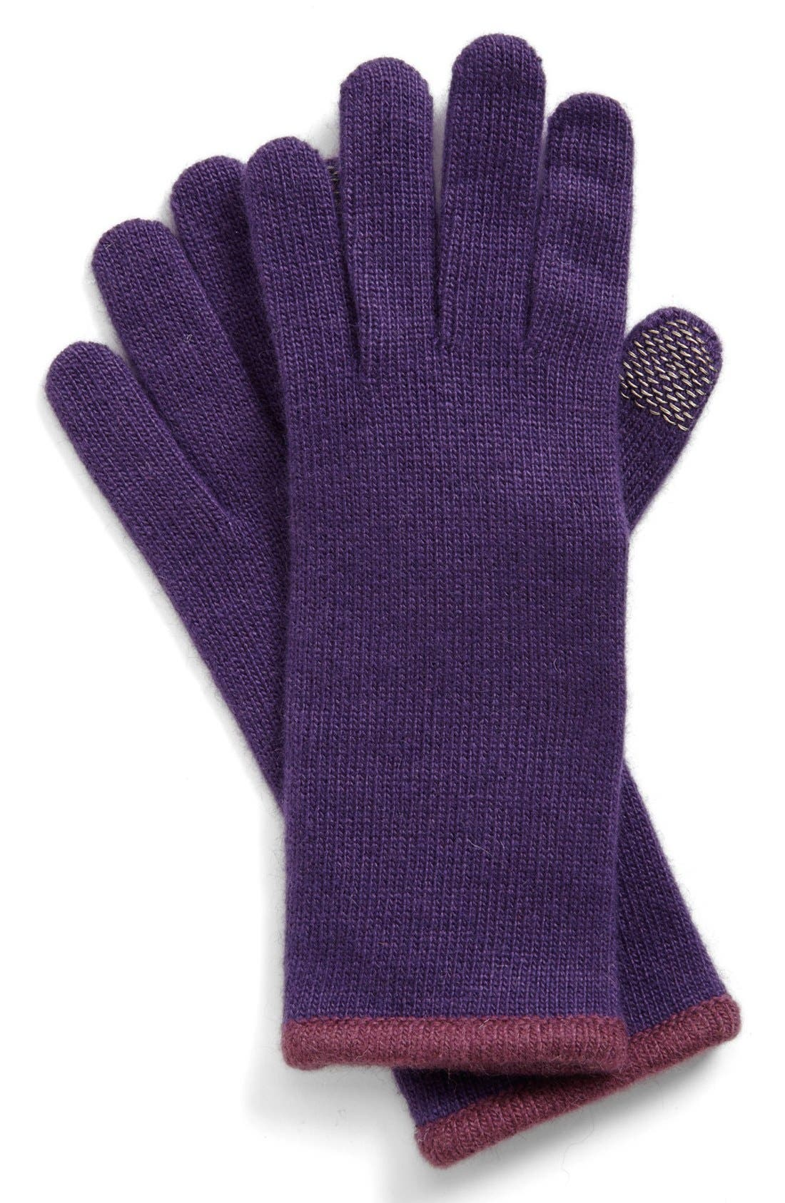 Alternate Image 1 Selected - Portolano Piped Tech Gloves