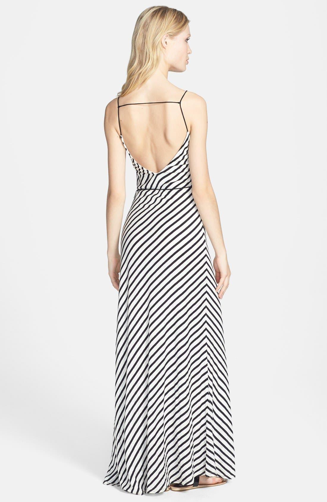 Alternate Image 2  - Dolce Vita Linen & Cotton Stripe Maxi Dress