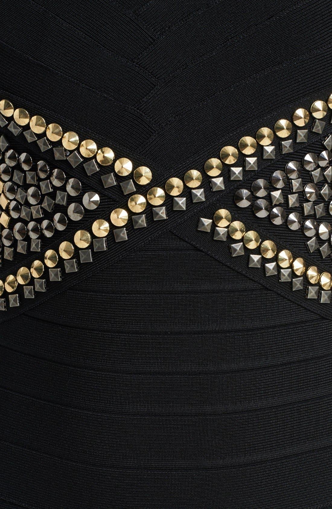 Alternate Image 3  - Herve Leger Embroidered Waist Dress