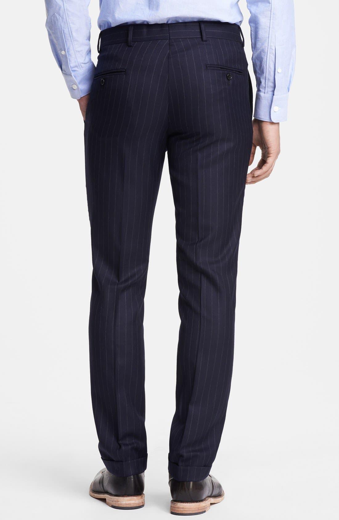 Alternate Image 6  - Todd Snyder Navy Pinstripe Wool Suit