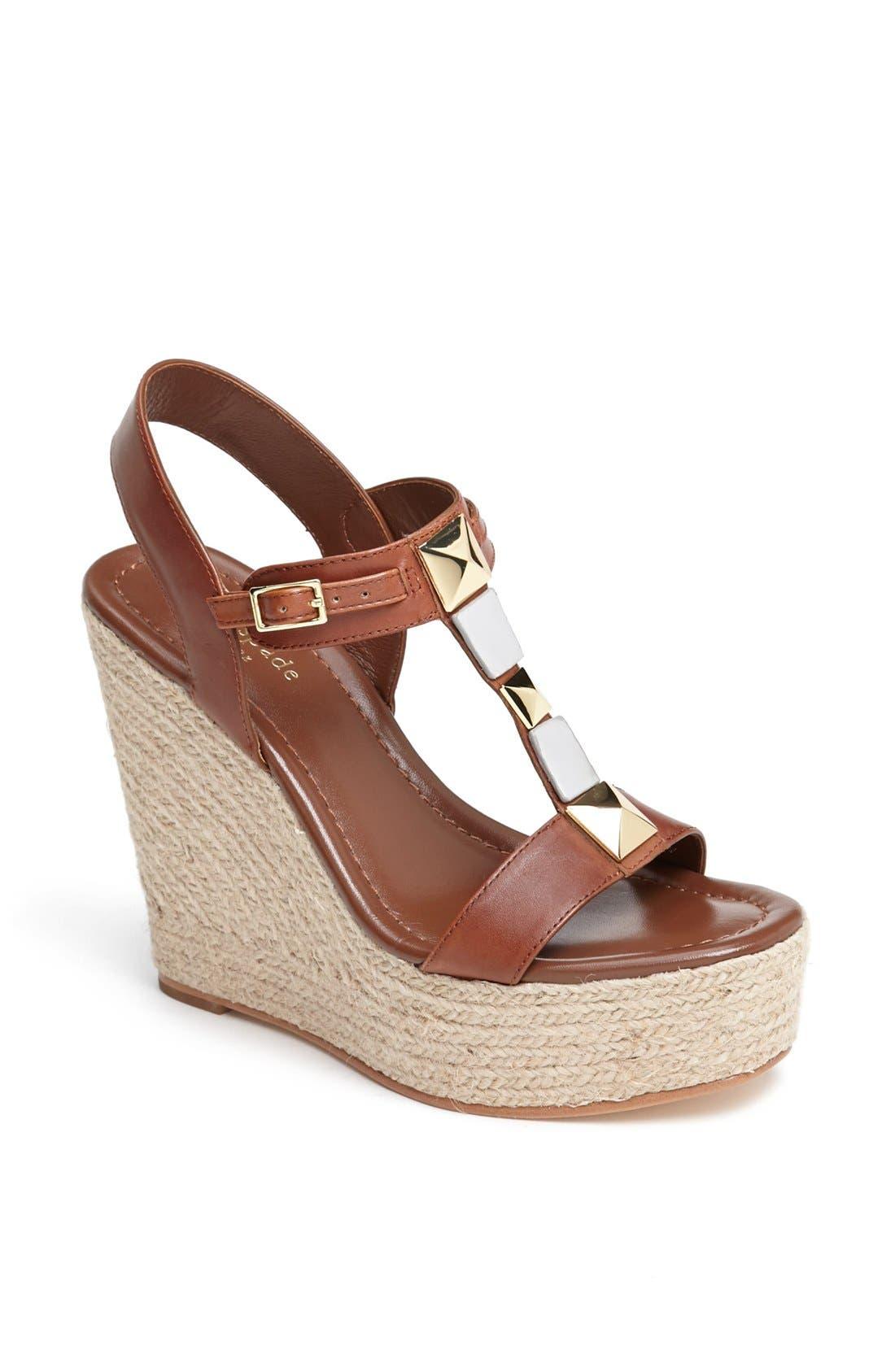 Alternate Image 1 Selected - kate spade new york 'luxe' platform espadrille sandal