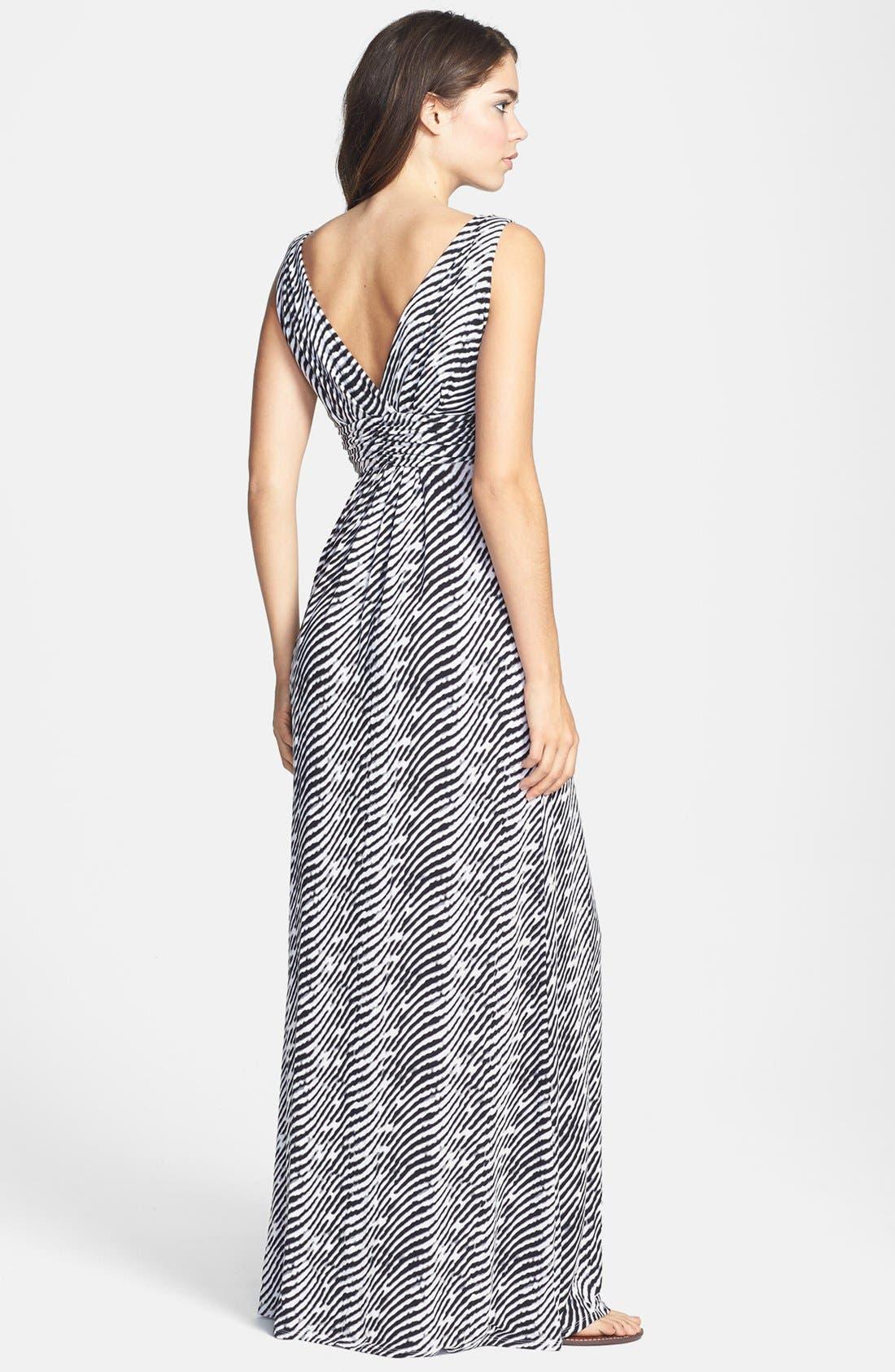 Alternate Image 2  - Tart 'Adrianna' Print Jersey Maxi Dress