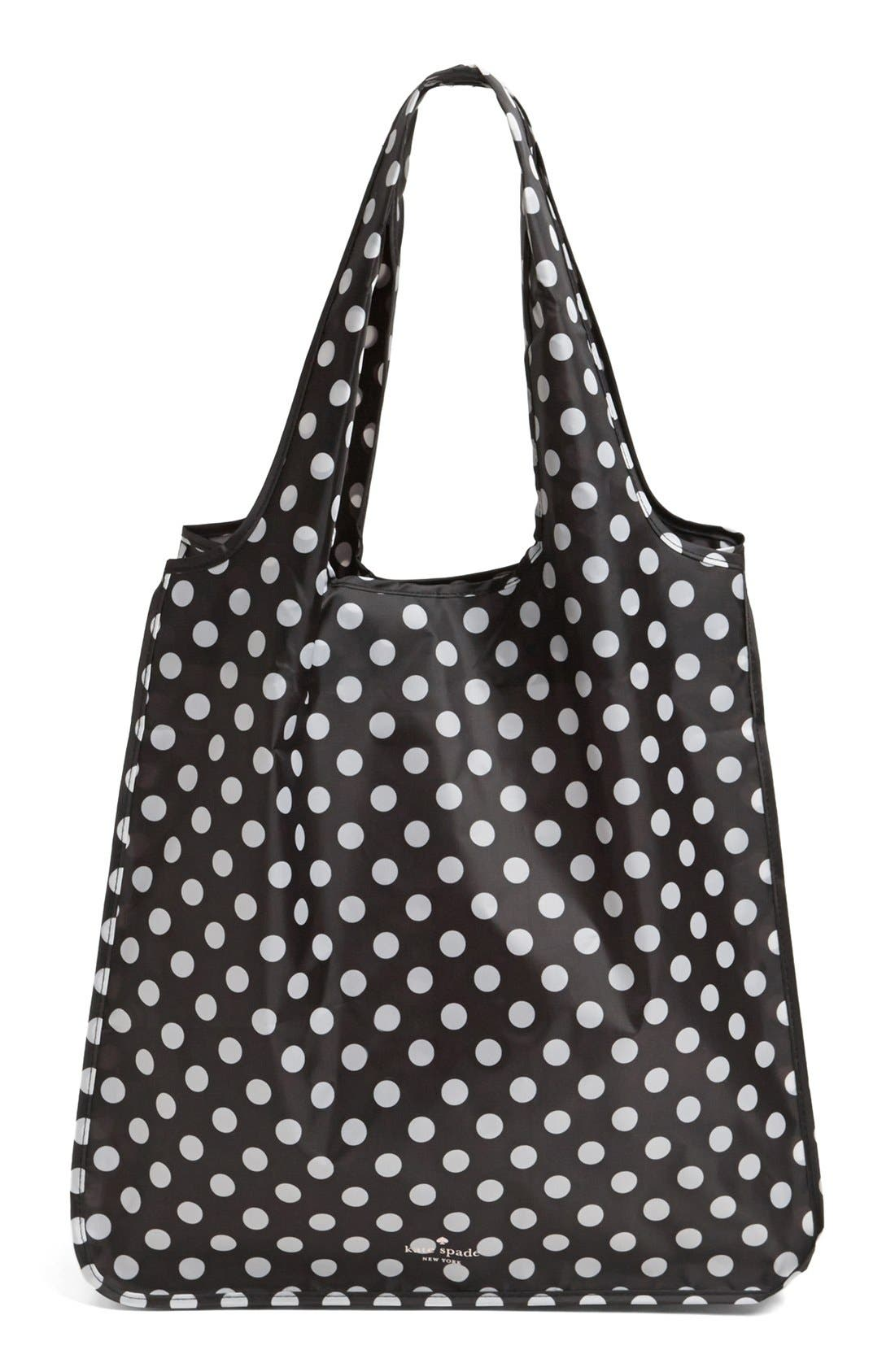Alternate Image 1 Selected - kate spade new york 'polka dot' reusable shopping tote