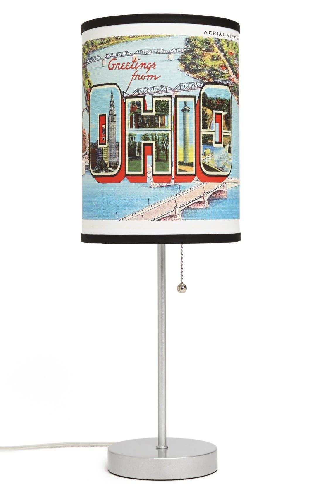 Main Image - LAMP-IN-A-BOX 'Ohio Postcard' Table Lamp