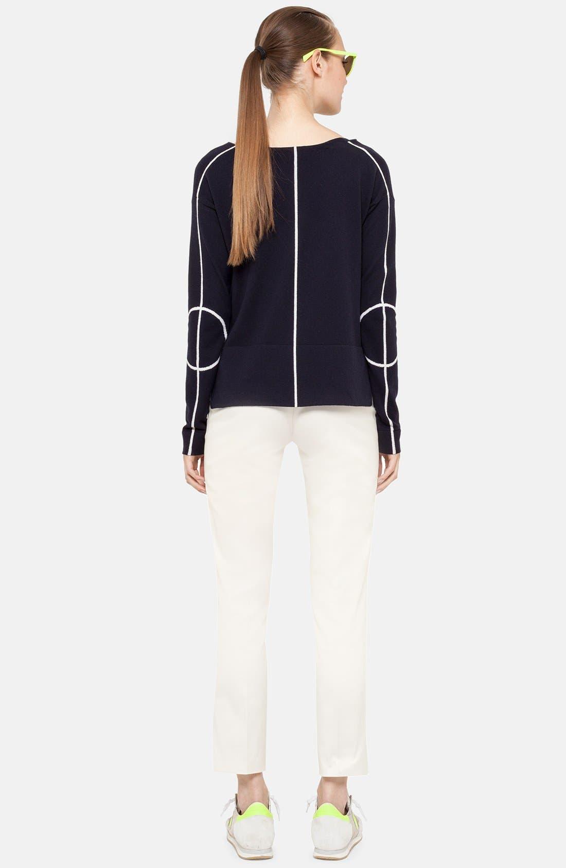 Alternate Image 2  - Akris punto Grid Stripe Crop Sweater