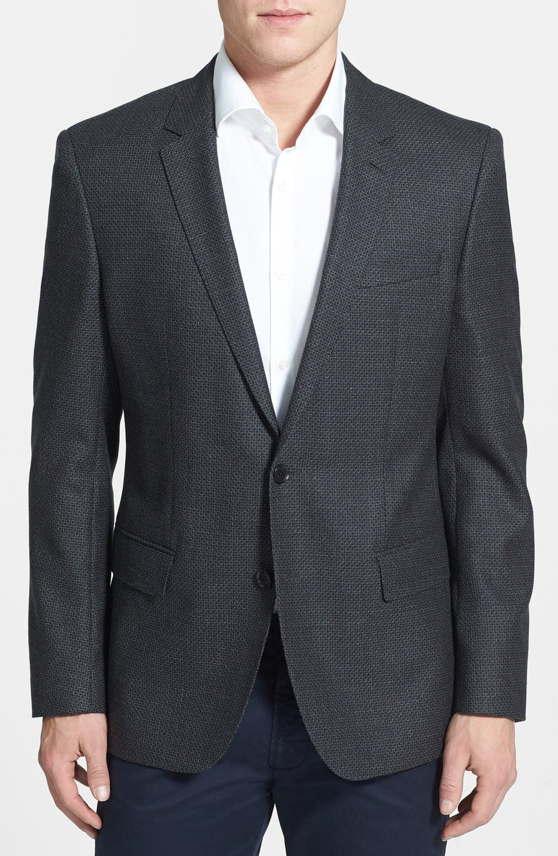 Main Image - BOSS HUGO BOSS 'Hutch' Trim Fit Wool Sportcoat