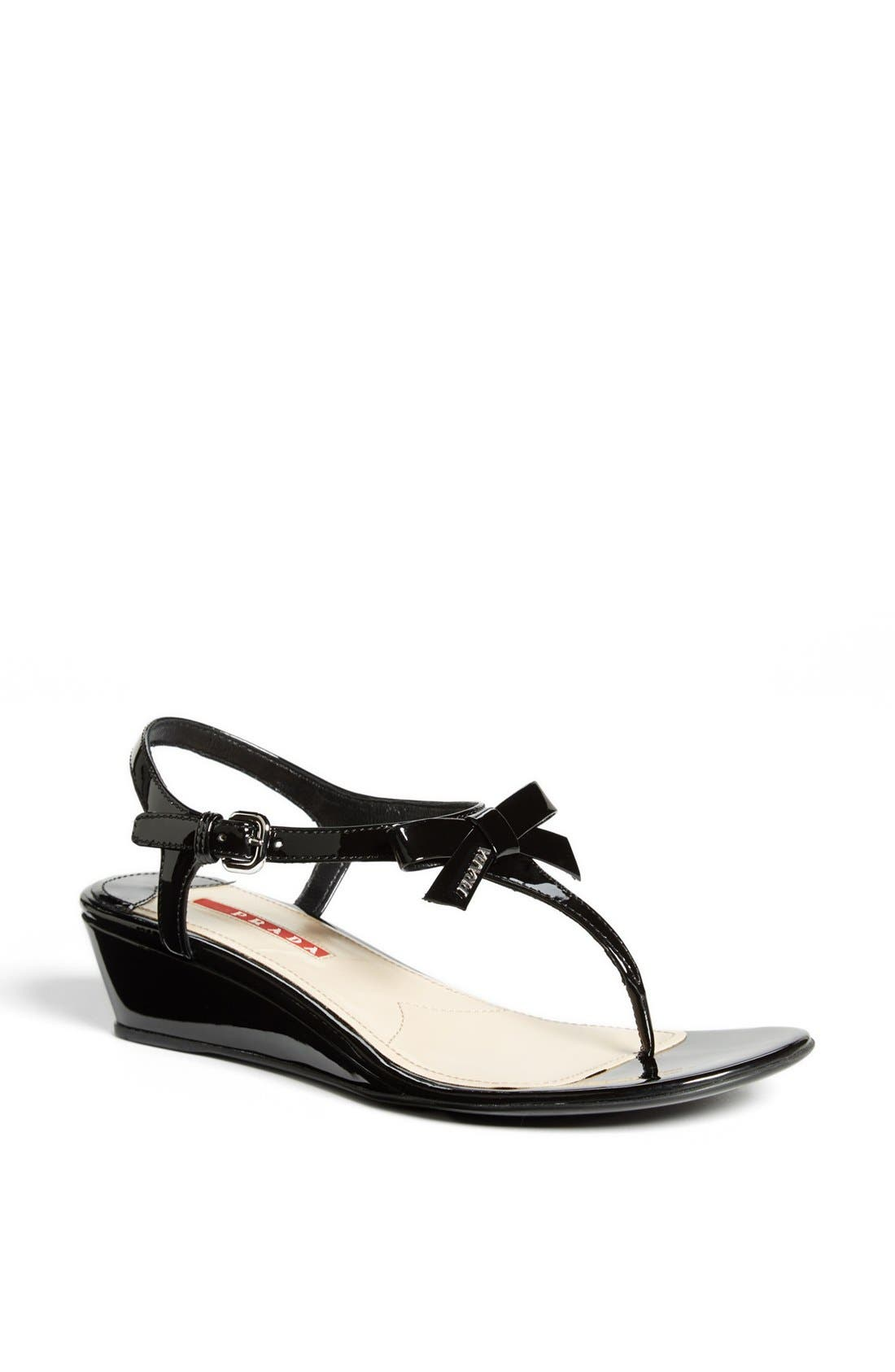 Main Image - Prada 'Bow' Wedge Sandal
