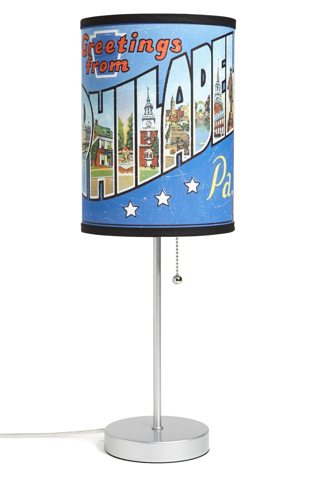Alternate Image 1 Selected - LAMP-IN-A-BOX 'Greetings from Philadelphia' Table Lamp