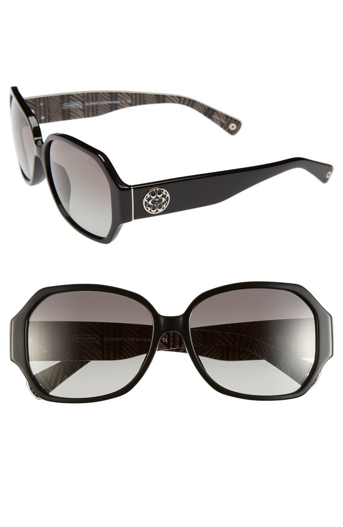 Alternate Image 1 Selected - COACH 58mm Retro Sunglasses