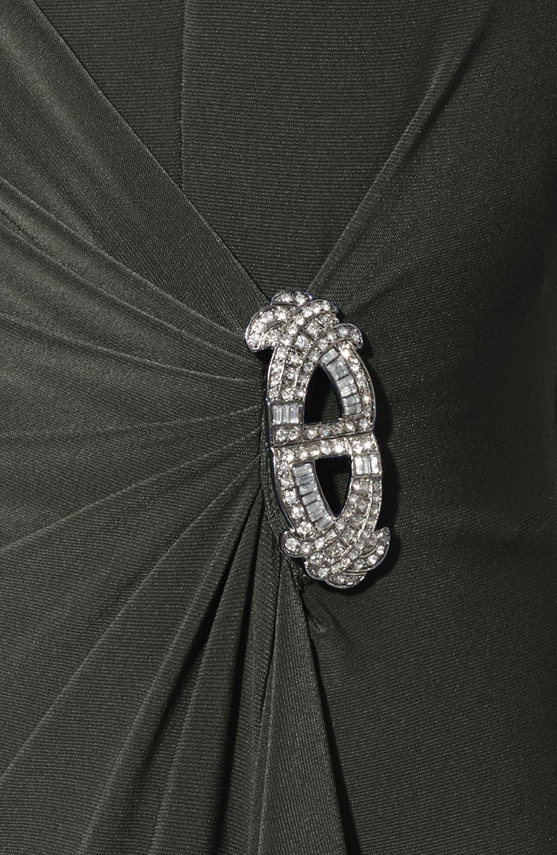 Alternate Image 3  - Lauren Ralph Lauren Satin Ruffled Jersey Gown