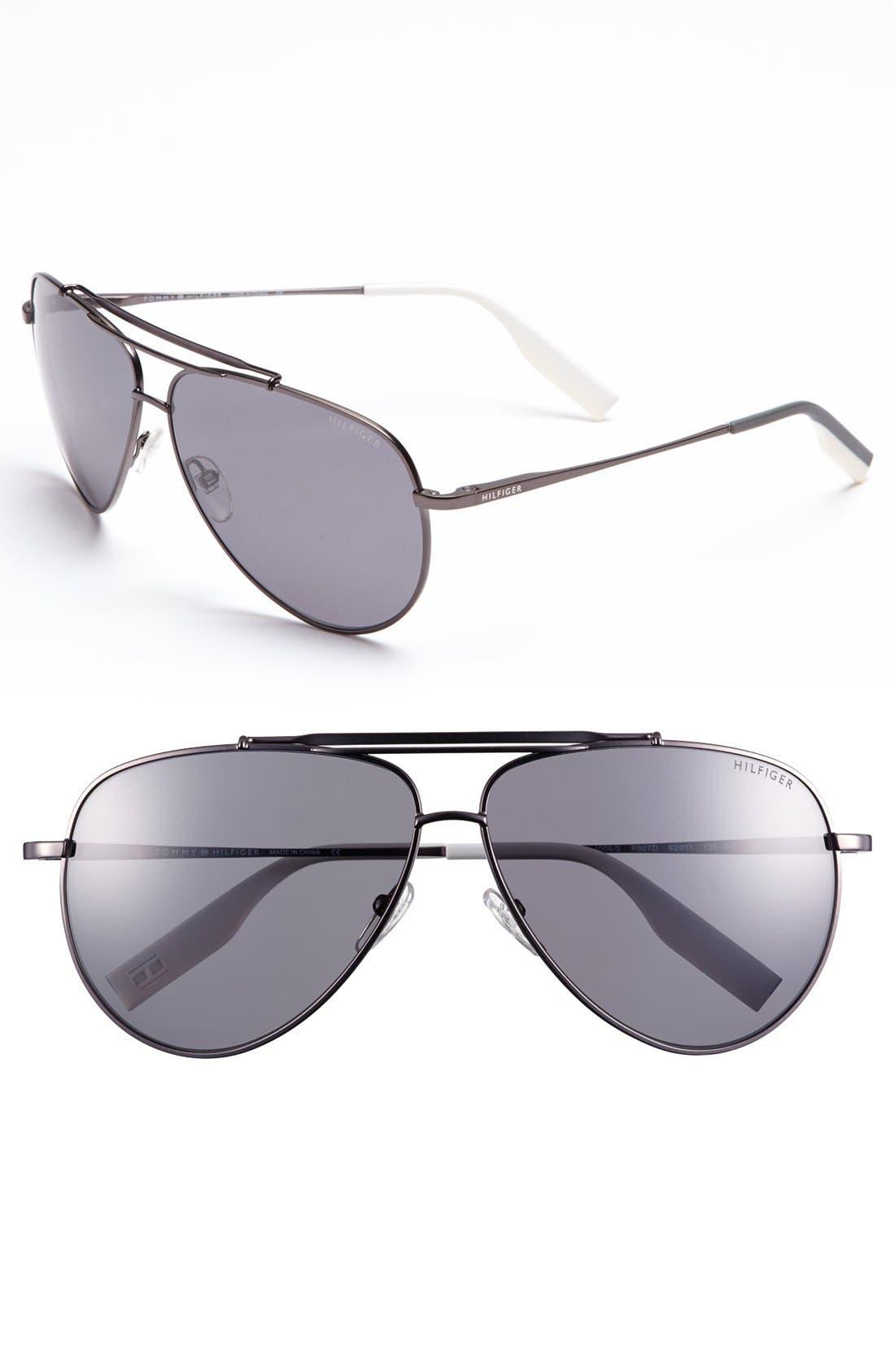 Main Image - Tommy Hilfiger 62mm Polarized Aviator Sunglasses