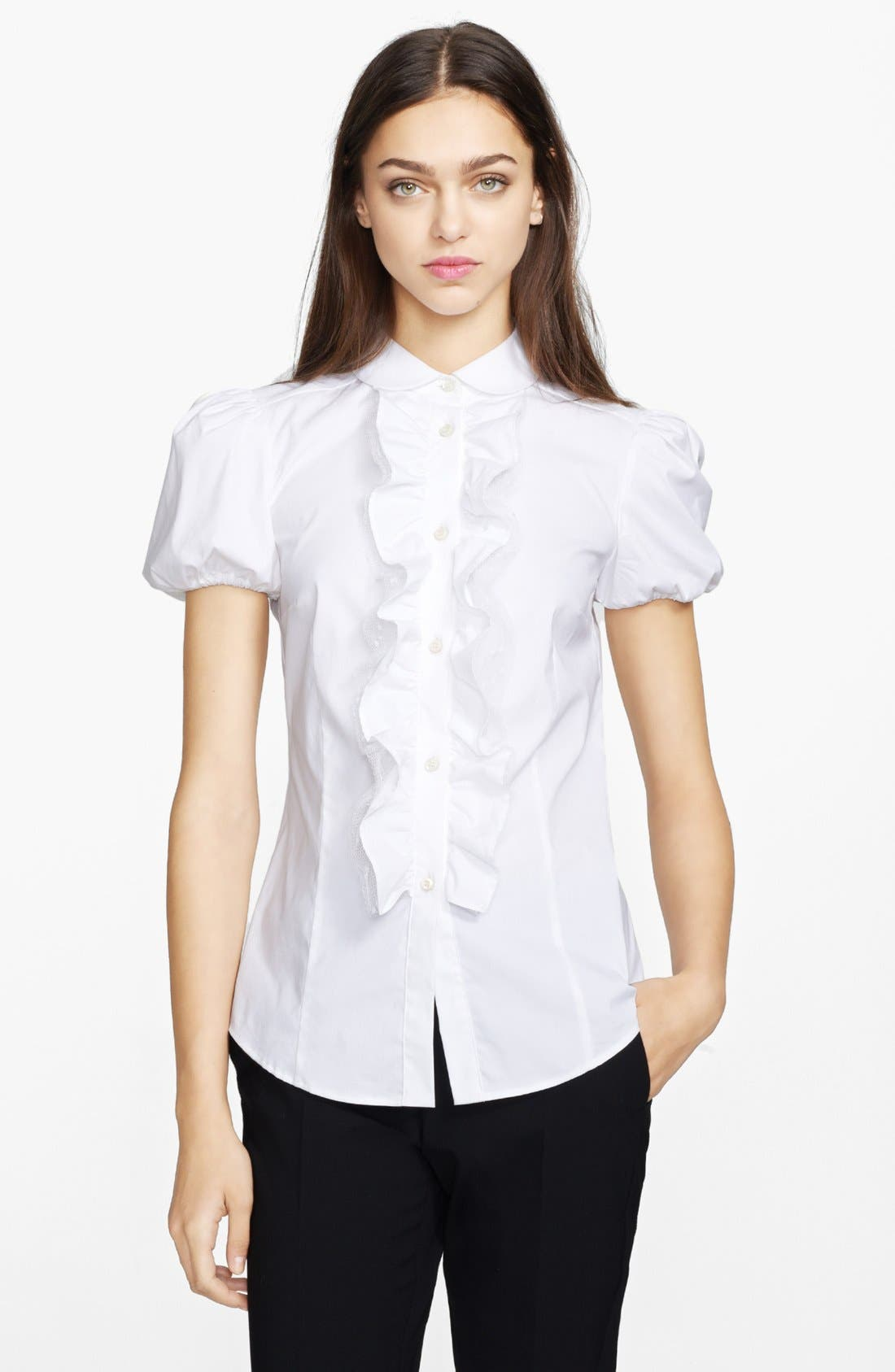 Alternate Image 1 Selected - RED Valentino Stretch Poplin Blouse