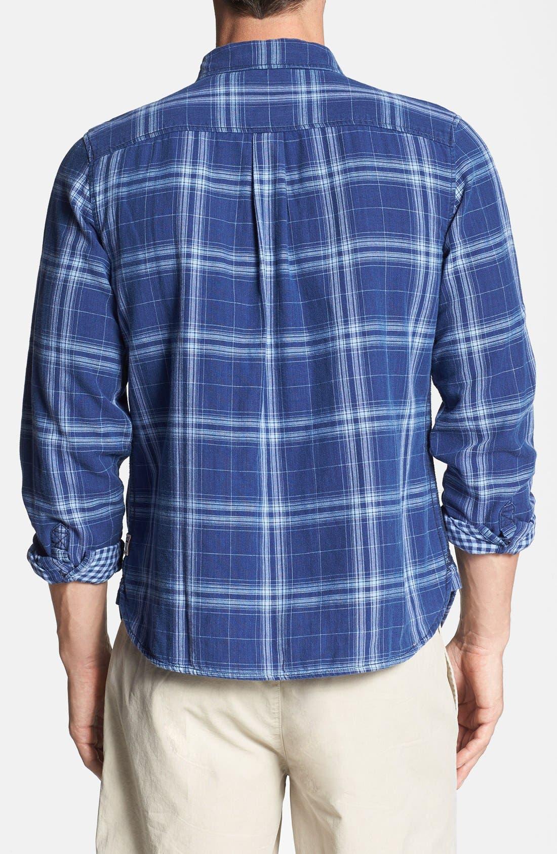 Alternate Image 2  - Surfside Supply Double Face Plaid Cotton Shirt