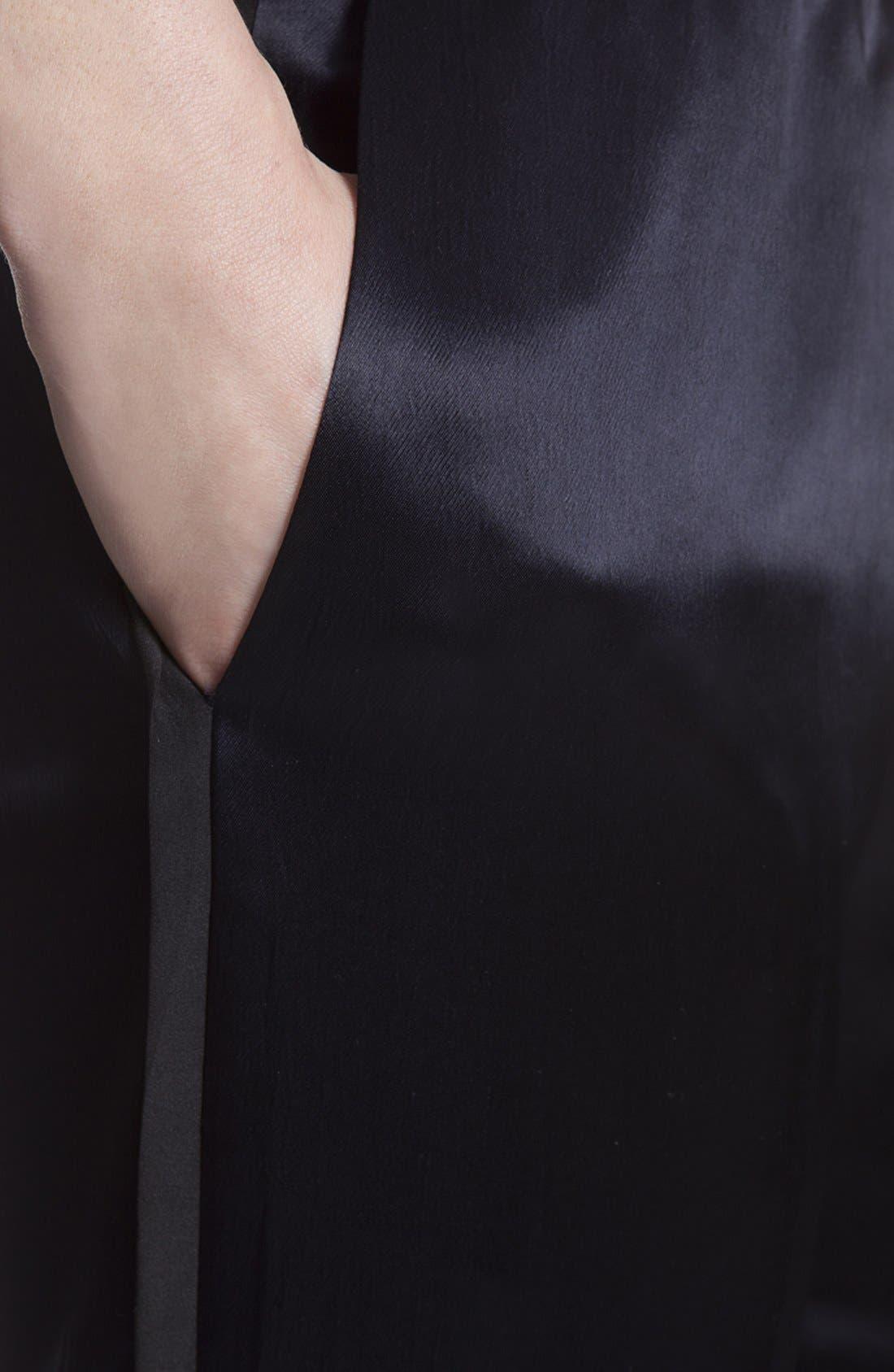 Alternate Image 3  - sandro 'Pirouette' Tuxedo Stripe Satin Pants