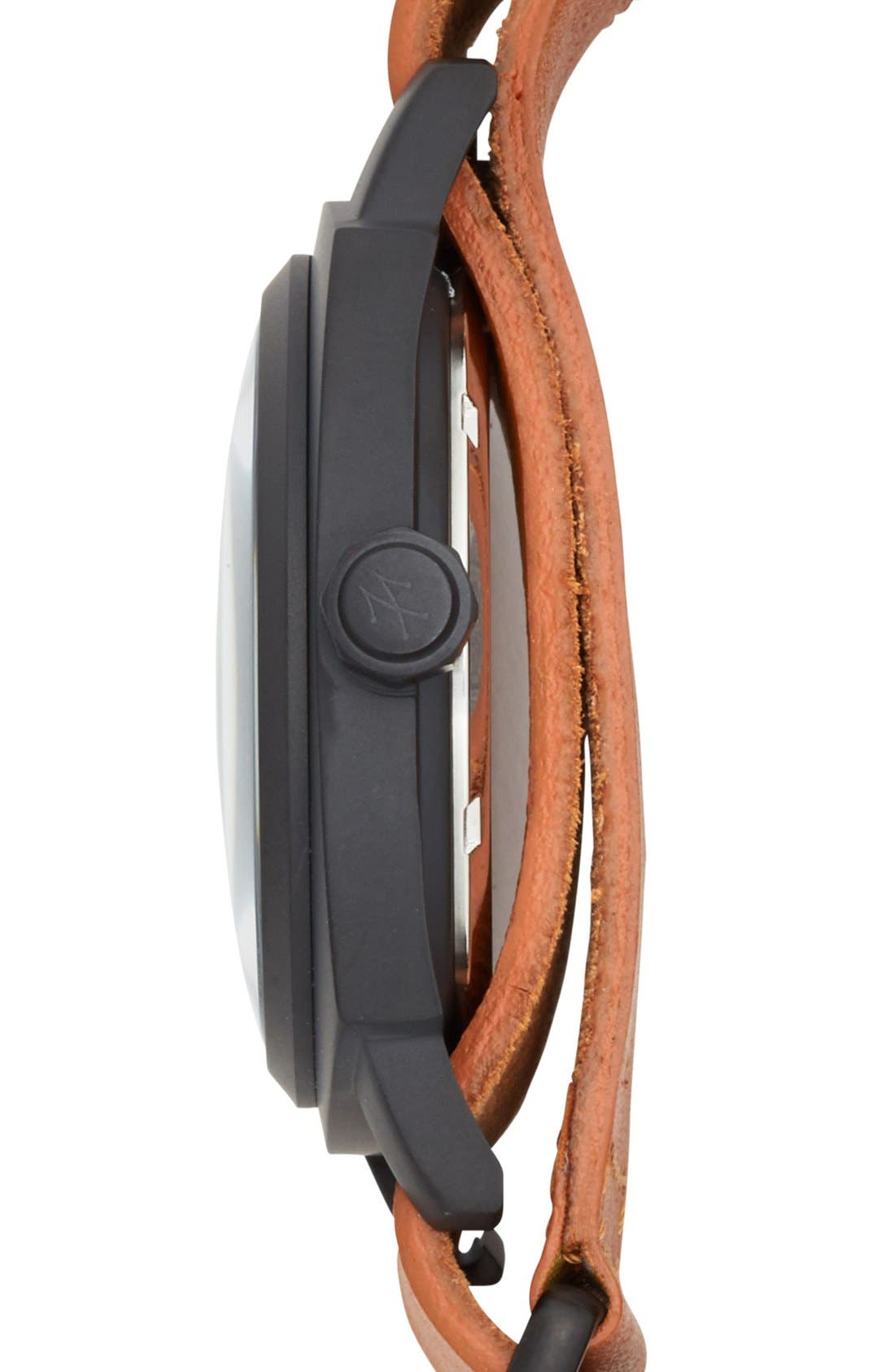Alternate Image 3  - TOYWATCH 'Icon' Leather Strap Watch, 43mm