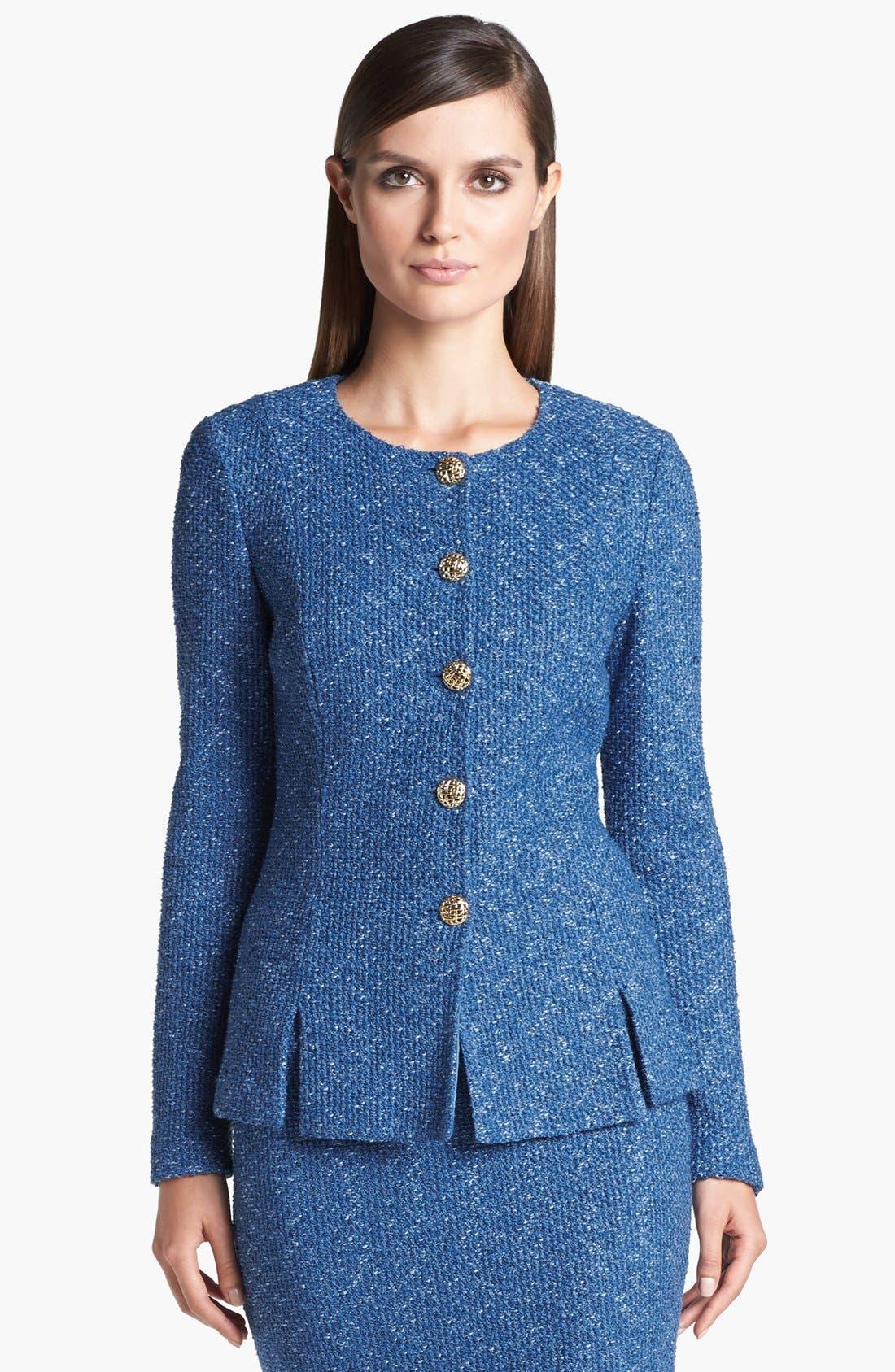 Main Image - St. John Collection Flecked Tweed Jacket