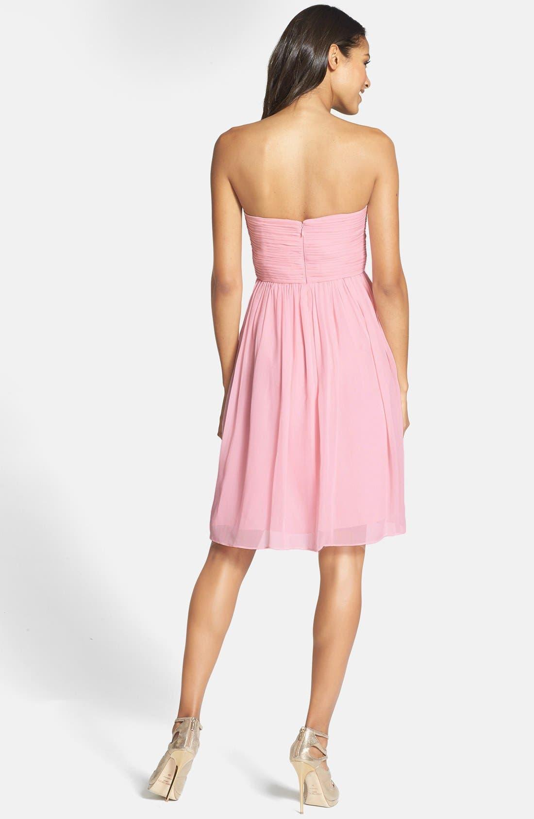 Alternate Image 2  - Donna Morgan 'Morgan' Strapless Silk Chiffon Dress