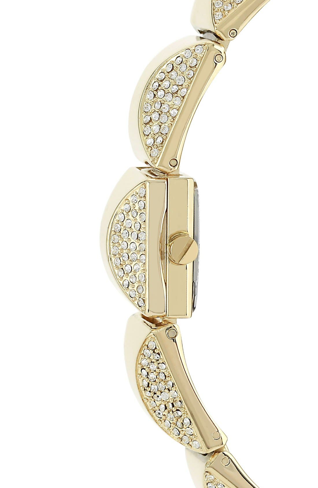 Alternate Image 4  - Vince Camuto Covered Case Crystal Accent Bracelet Watch, 17mm