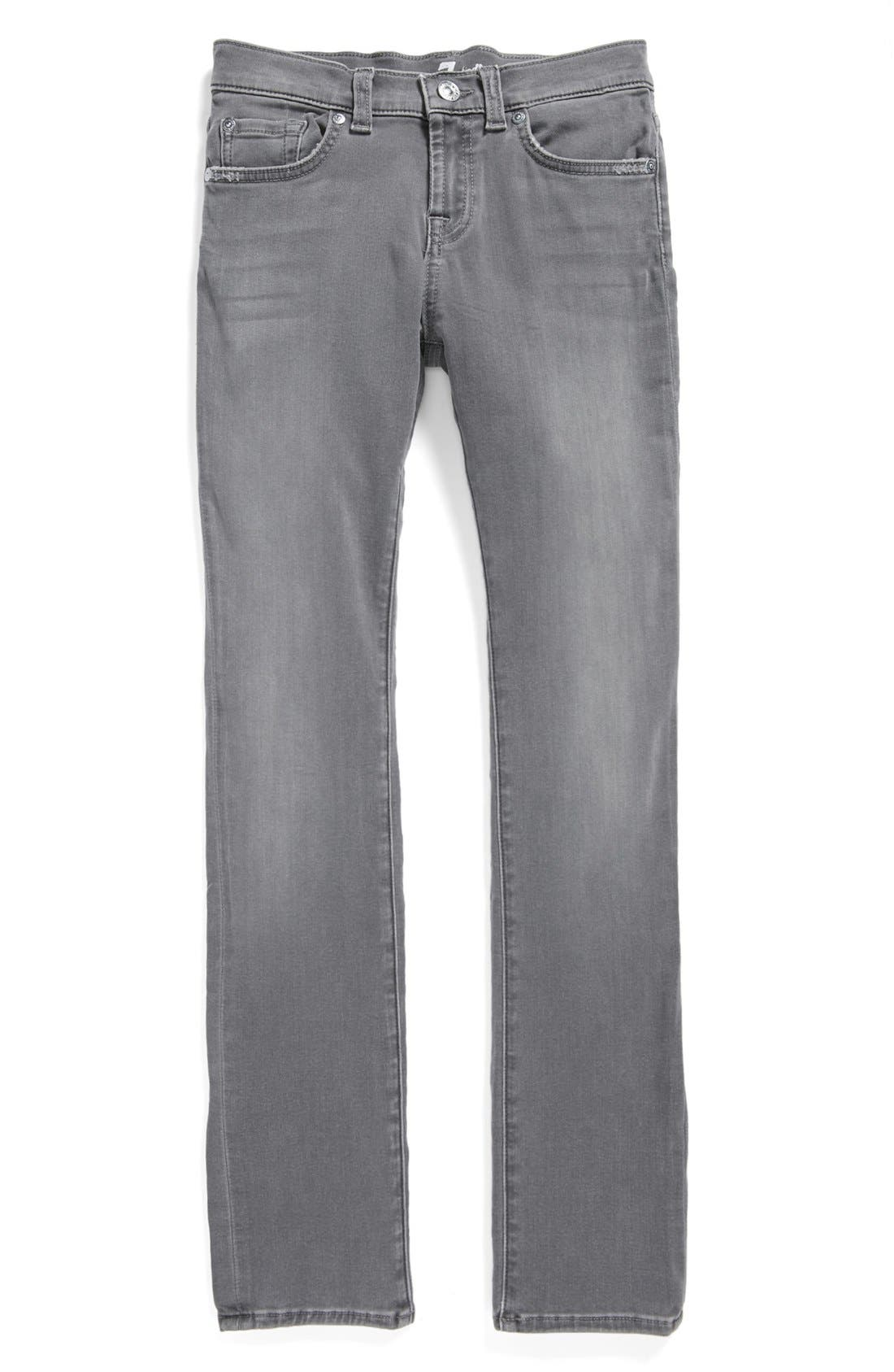 Alternate Image 1 Selected - 7 For All Mankind® Straight Leg Jeans (Big Girls)