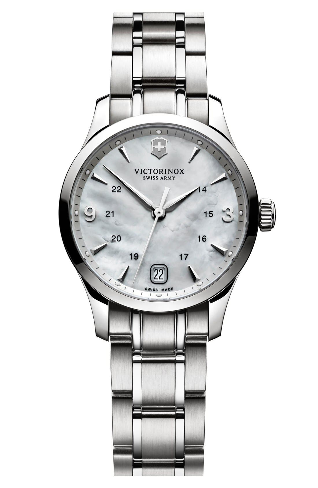 Alternate Image 1 Selected - Victorinox Swiss Army® 'Alliance' Bracelet Watch, 30mm
