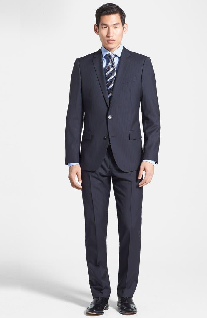 hugo 39 amaro heise 39 trim fit wool blend suit nordstrom. Black Bedroom Furniture Sets. Home Design Ideas