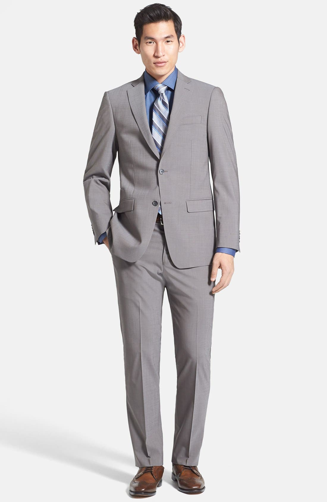 Main Image - Michael Kors Trim Fit Stretch Wool Suit