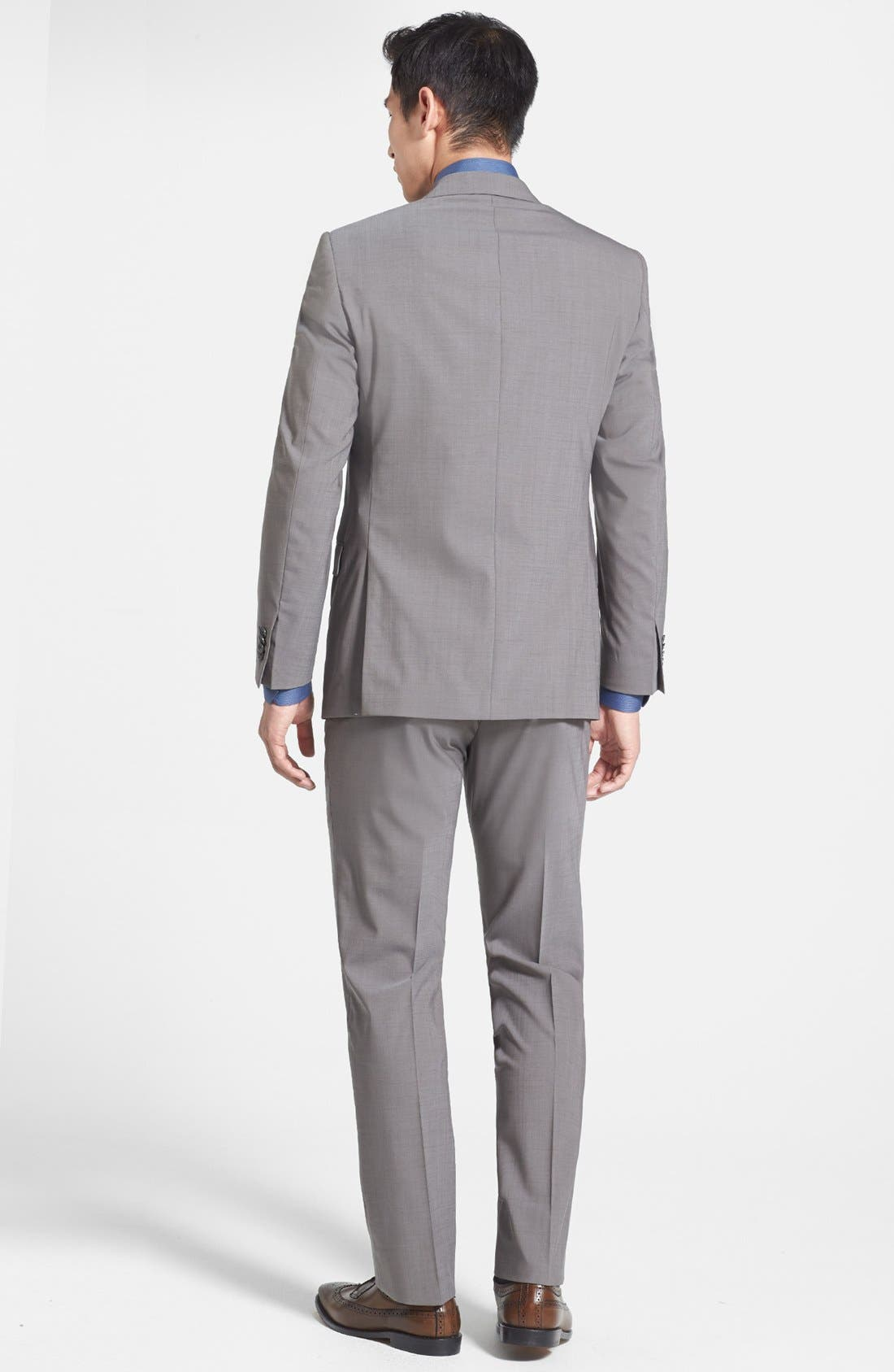 Alternate Image 2  - Michael Kors Trim Fit Stretch Wool Suit