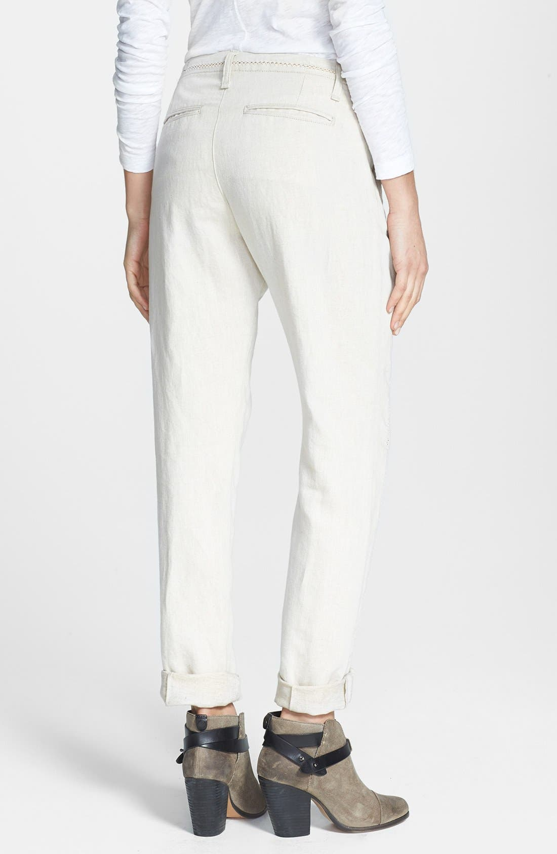 Alternate Image 2  - rag & bone/JEAN 'Separating Portobello' Open Detail Pants