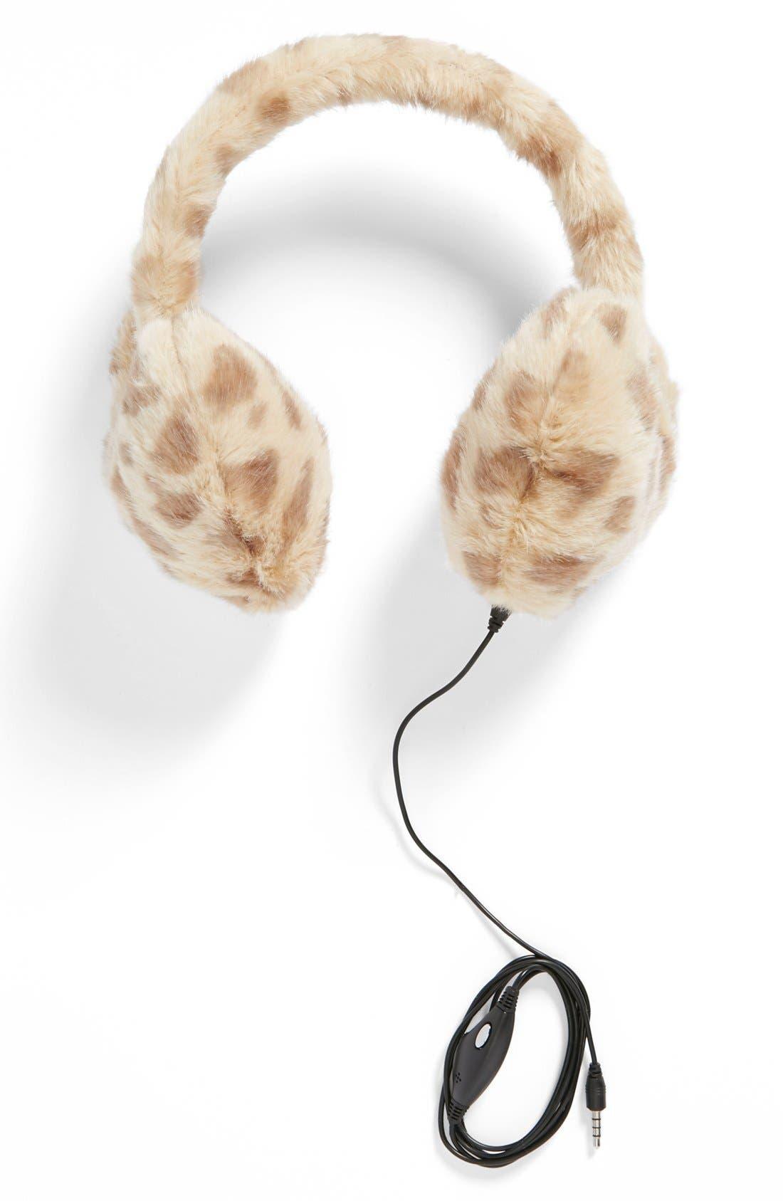 Main Image - The Accessory Collective Leopard Print Earmuff Headphones (Girls)