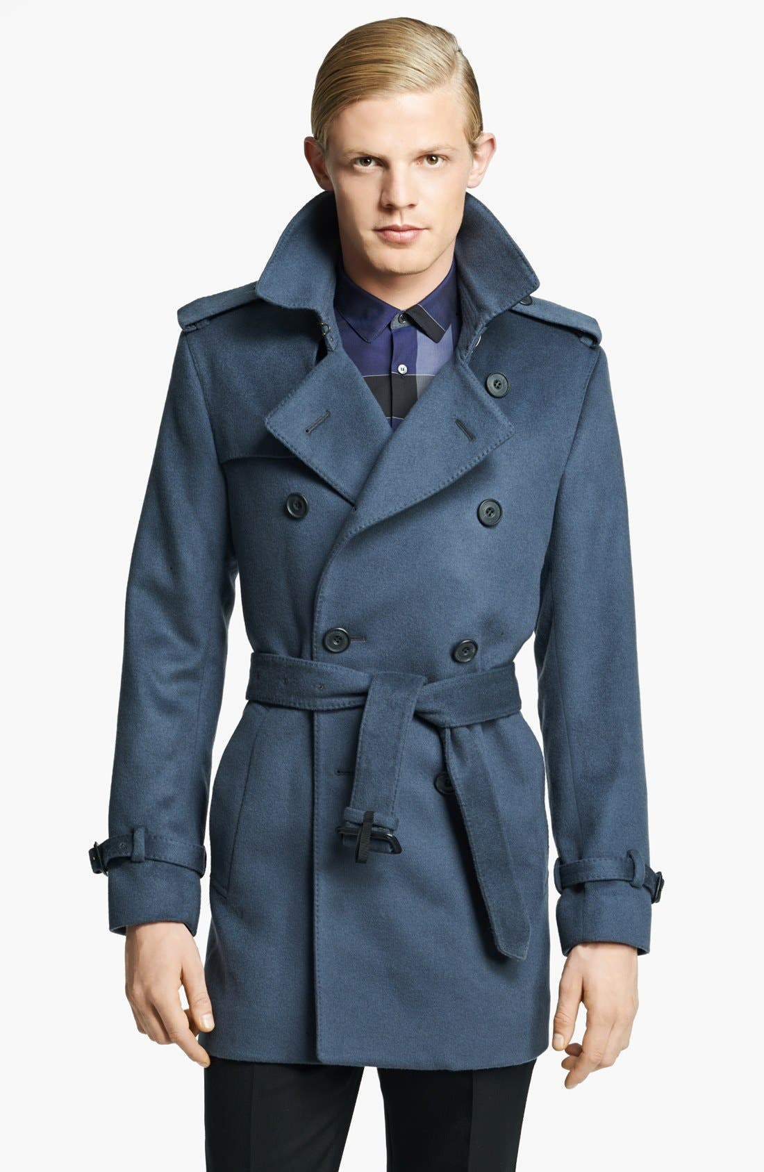 Alternate Image 1 Selected - Burberry London 'Britton' Wool & Cashmere Double Breasted Trench Coat