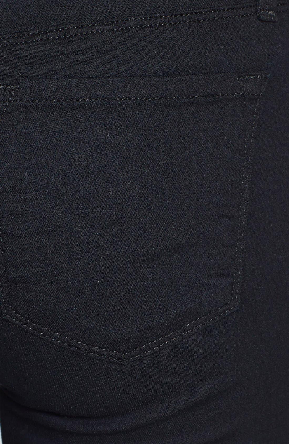 Alternate Image 3  - J Brand Super Skinny Jeans (Pitch Black)