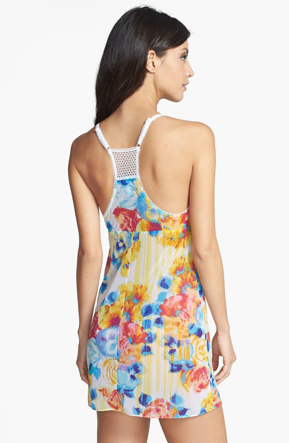 Alternate Image 2  - Betsey Johnson Embroidered Chiffon Slip