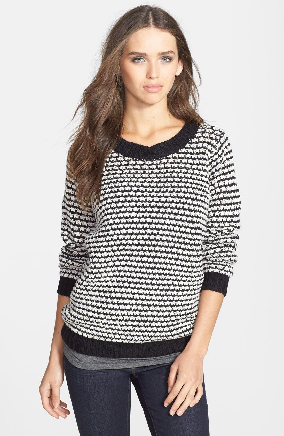 Alternate Image 1 Selected - RD Style Textured Crewneck Sweater