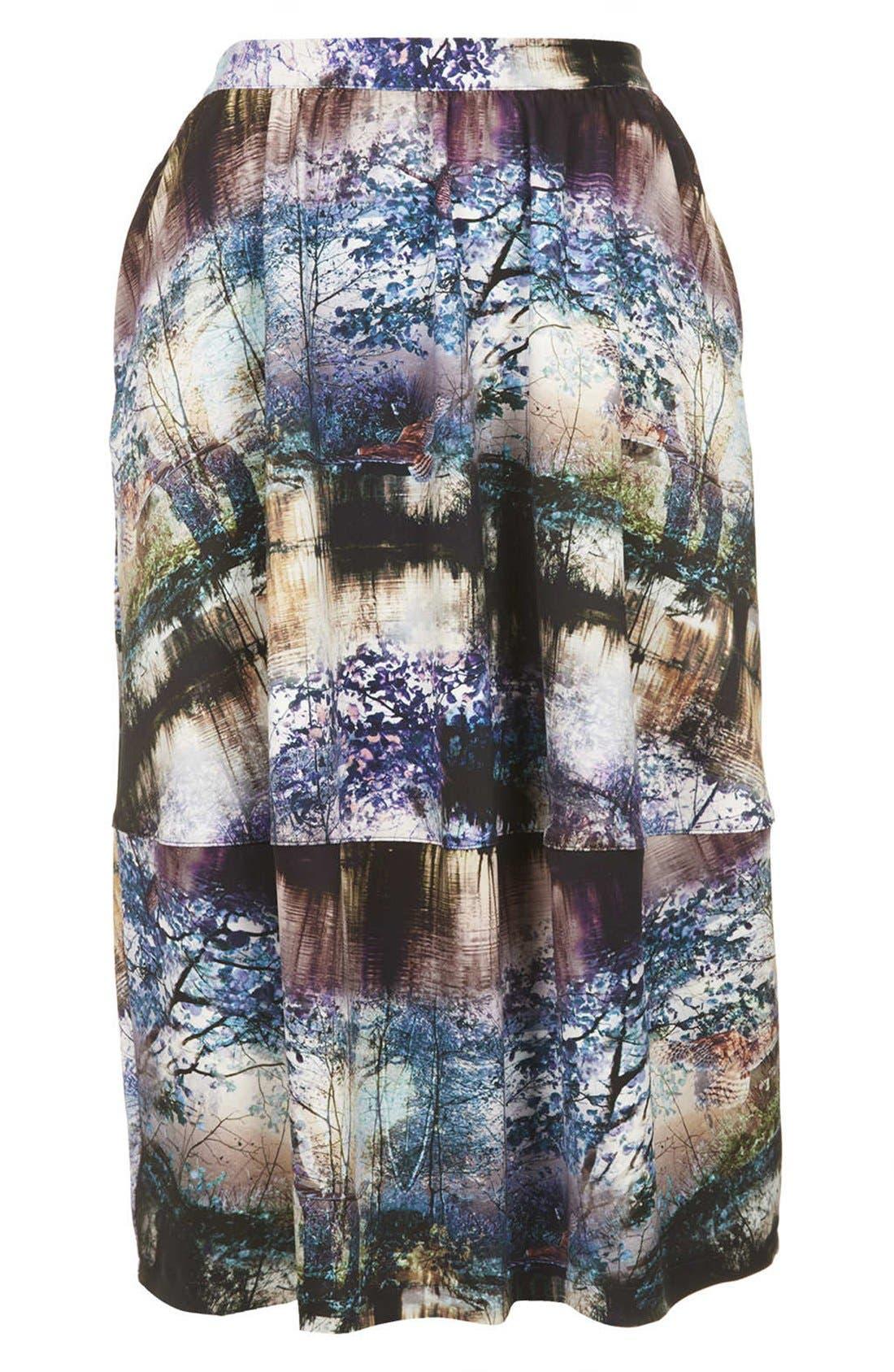 Alternate Image 3  - Topshop Photorealistic Print Midi Skirt