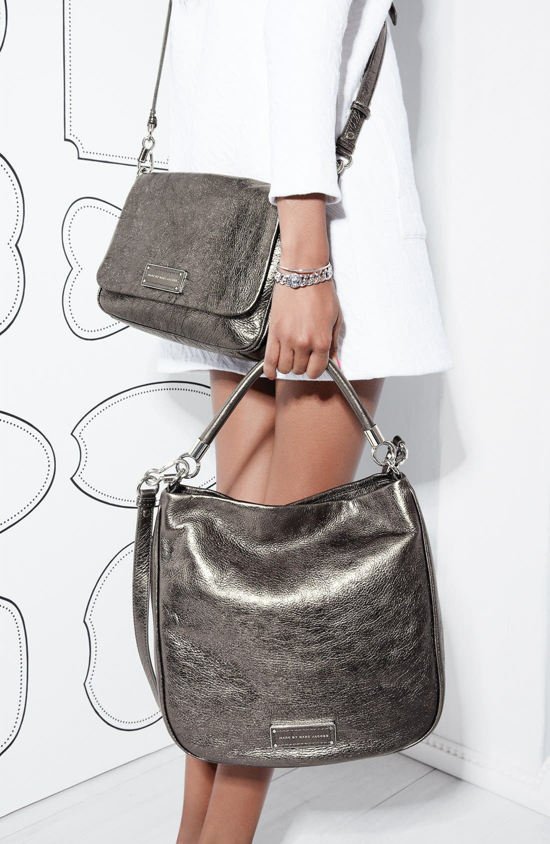 Alternate Image 6  - MARC BY MARC JACOBS 'Too Hot to Handle' Metallic Leather Crossbody Bag