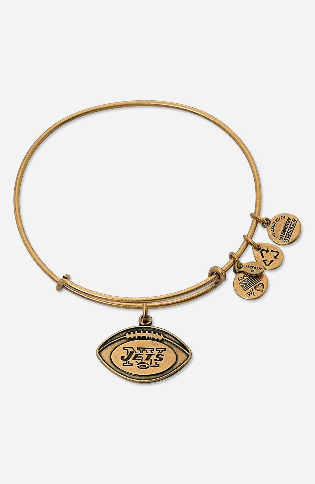 Alternate Image 1 Selected - Alex and Ani 'New York Jets' Adjustable Wire Bangle
