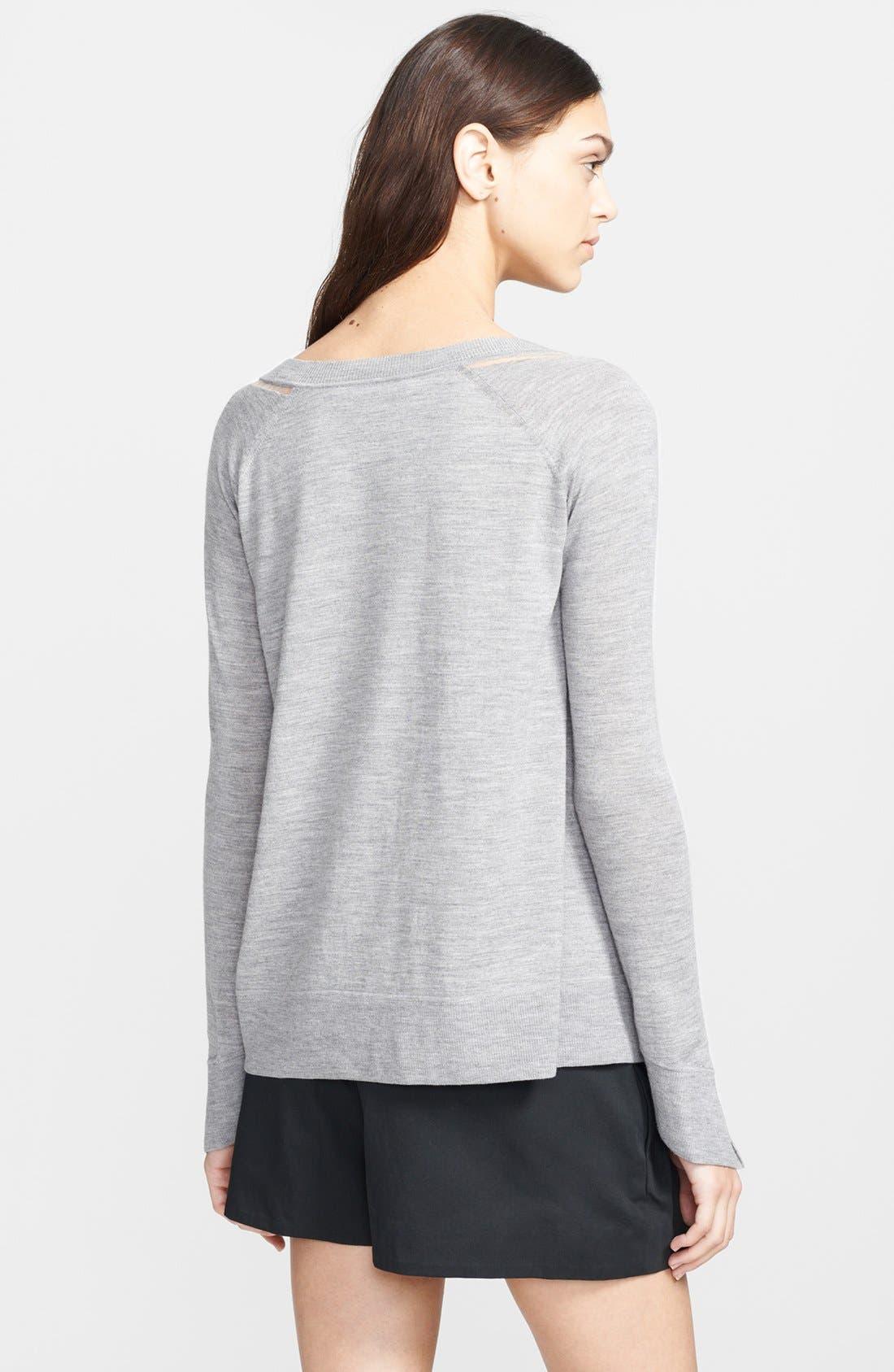 Alternate Image 2  - Alexander Wang Mesh Shoulder Sweater