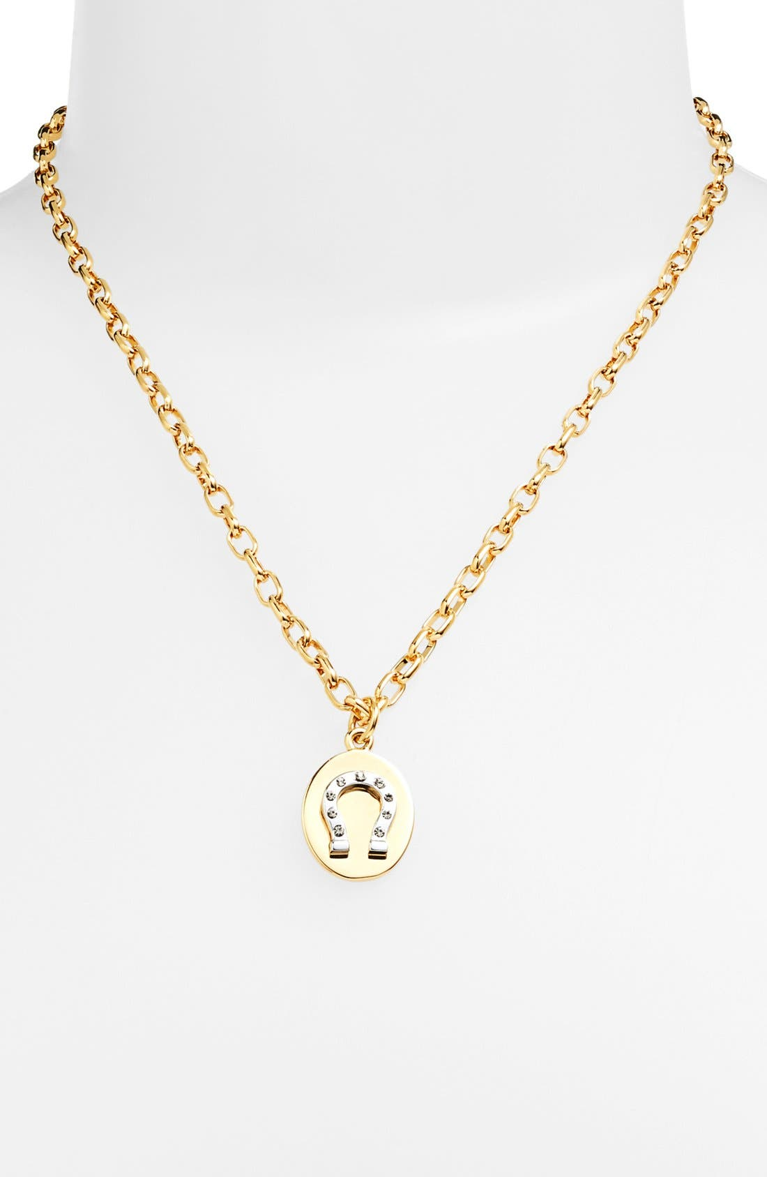 Main Image - Tory Burch 'Sylbie' Horseshoe Charm Necklace