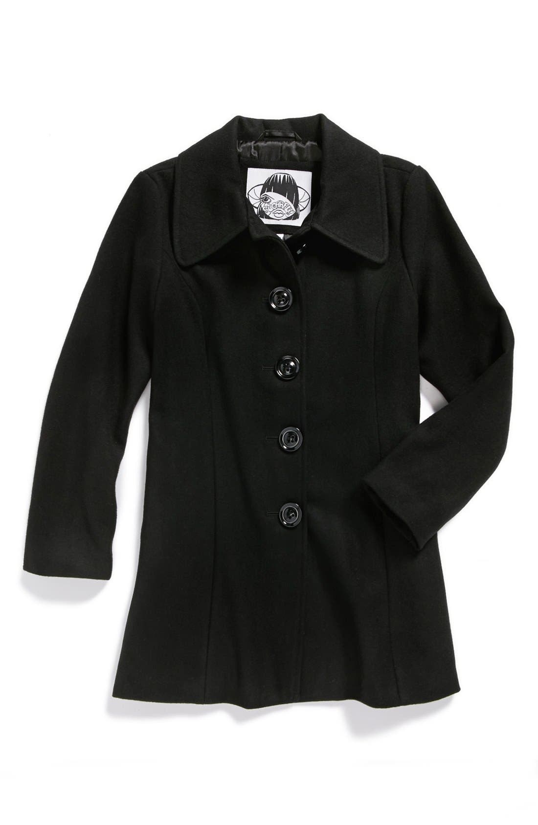 Alternate Image 1 Selected - Sugarfly Wool Blend Coat (Big Girls)
