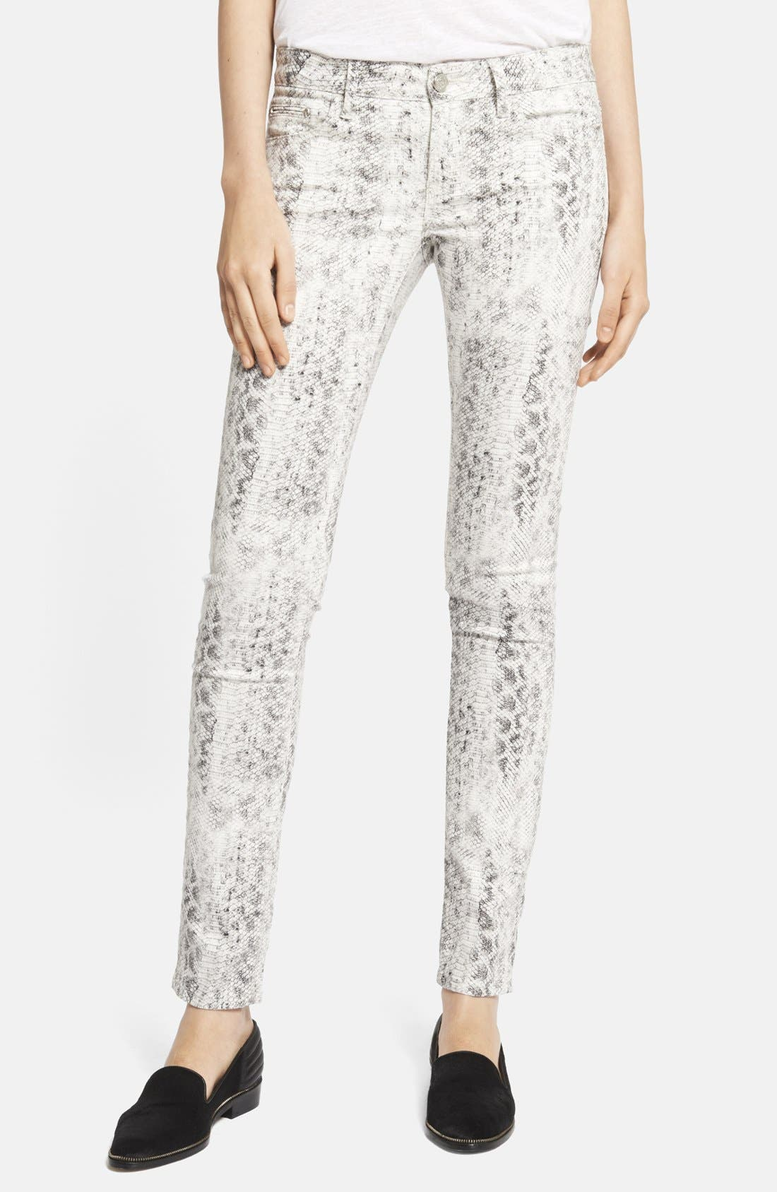 Alternate Image 1 Selected - The Kooples Skinny Python Print Jeans